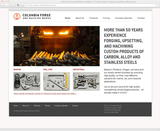 Columbia Forge homepage