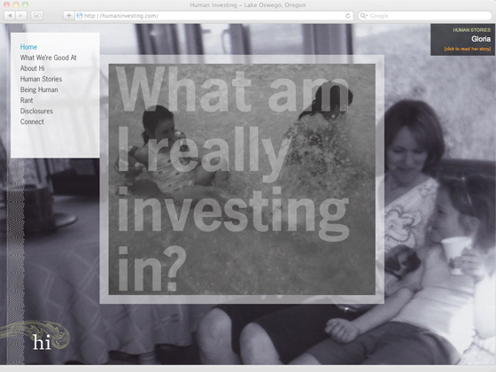 Human Investing website homepage