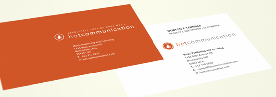 Hot Communication Music Publishing cards