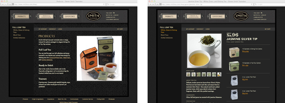 Smith Teamaker website subpages